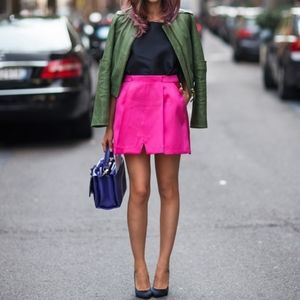 Banana Republic Pink Double Front Pleat Skirt 10P